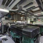 Salle des machines. Bateau de type Motoryacht de la marque Absolute, modèle 64 FLY.