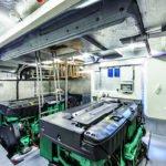 Salle des machines. Bateau de type Motoryacht de la marque Absolute, modèle 72 FLY.