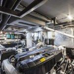 Salle des machines. Bateau de type Motoryacht de la marque Absolute, modèle NAVETTA 58.