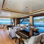 Salon intérieur.Bateau de type Motoryacht de la marque Absolute, modèle NAVETTA 73.
