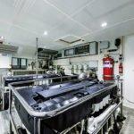 Salle des machines. Bateau de type Motoryacht de la marque Absolute, modèle NAVETTA 73.