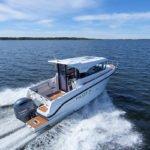 Navigation d'un bateau de type Fishing de la marque Finnmaster, modèle Pilot 7. Moteur Yamaha.