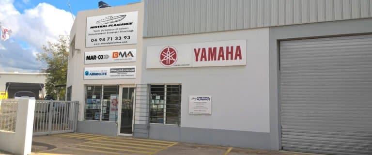 Devanture de l'agence Mistral plaisance, vente, entretien, bateaux neufs, bateaux occasions, situé au Lavandou.