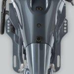 Vue face. Moteur Yamaha 60 chevaux.