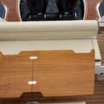 Photographie du salon extérieur du bateau BWA modèle Premium 30