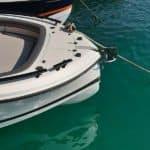 Photographie de l'ancre à l'avant du bateau BMA modèle X266